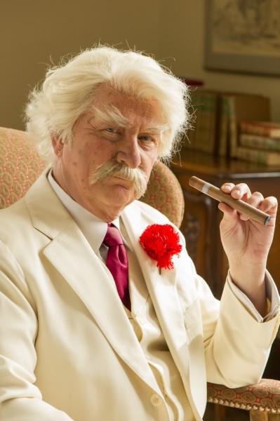 Don Shelby as Mark Twain