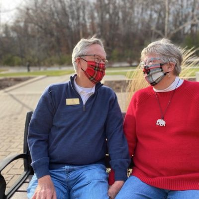 Liza and Jim Ervin with Masks