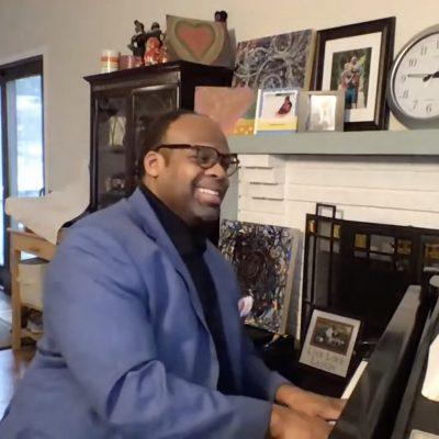 G. Phillip Shoultz, III playing piano