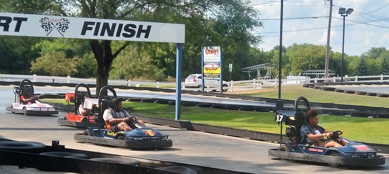 Members of VESOTA riding go karts